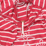 Free People Sefaring Striped Embroidered Red Tunic Top M