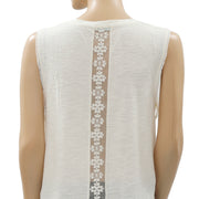 Kimchi Blue Urban Outfitters Embroidered Ivory Tank Top M