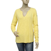 New Zadig & Voltaire Buttoned Long Sleeve T Shirt Top M