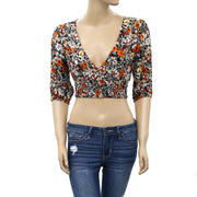 Urban Outfitters Floral Smocked Crop Top S