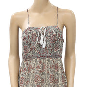 Ecote Urban Outfitters Face The Music Floral Lace-Up Maxi Dress XS