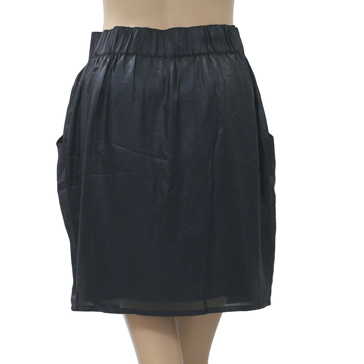 Anthropologie Pocket Black Mini Skirt XS