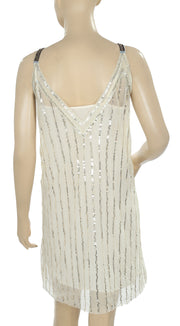 Free People Sequin Embellished Mini Dress M