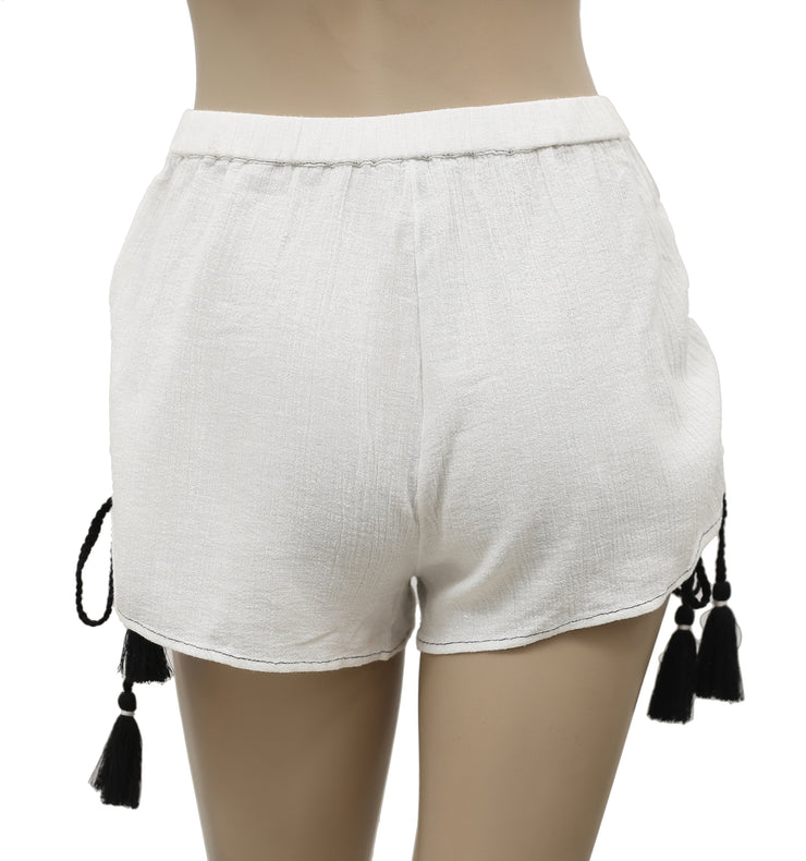 Free People Draw String White Gauzy Shortie Shorts XS