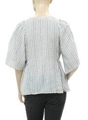 Isabel Marant Étoile Embroidered striped Printed Top XS