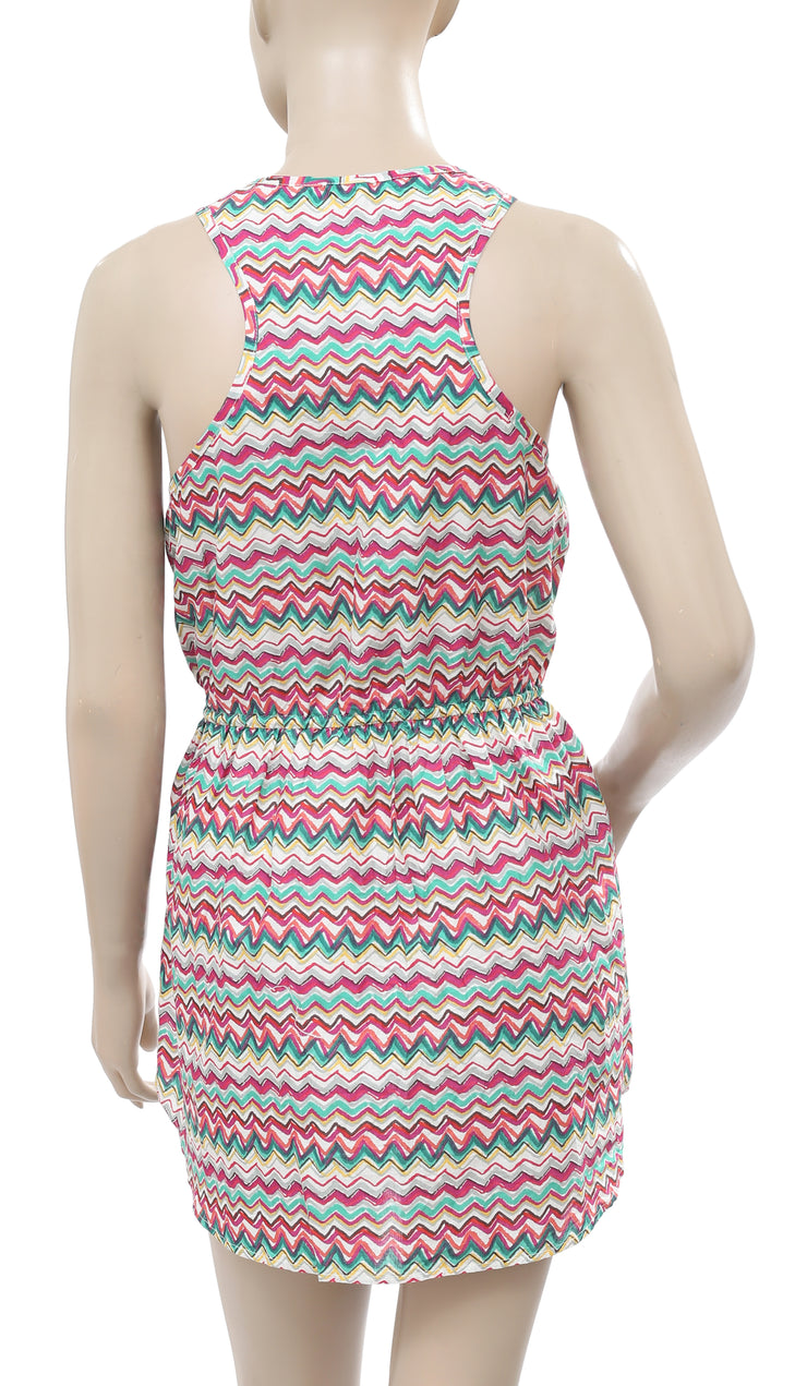 Superdry Multi Printed Buttoned Dress M
