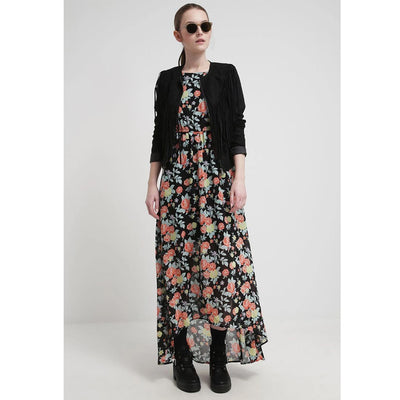 Tom Tailor Denim Jurk Maxi Dress Floral Printed High & Low Evening S NEW
