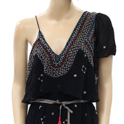 Free People These Eyes Together One Shoulder Mini Dress M