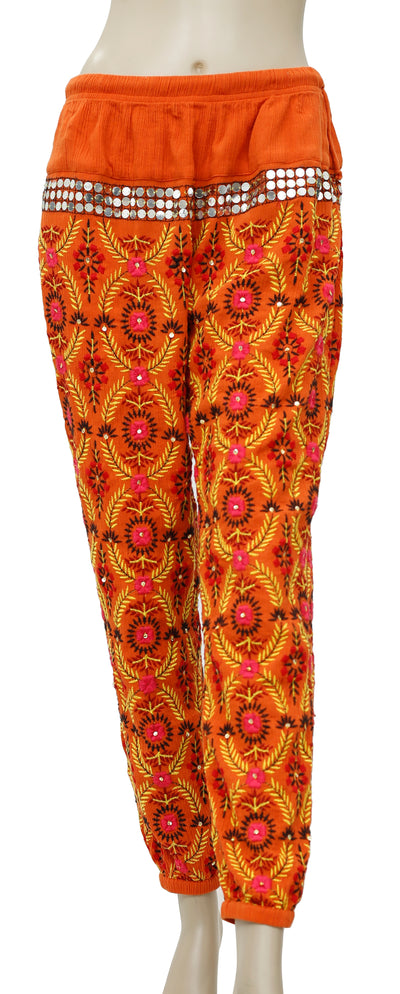 Free People Embroidered Embellished Pajma Pant S
