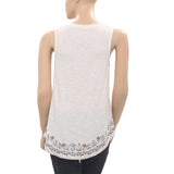 Free People Embroidered Blouse Top XS