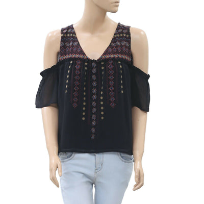 Abercrombie & Fitch Embroidered Blouse Top S
