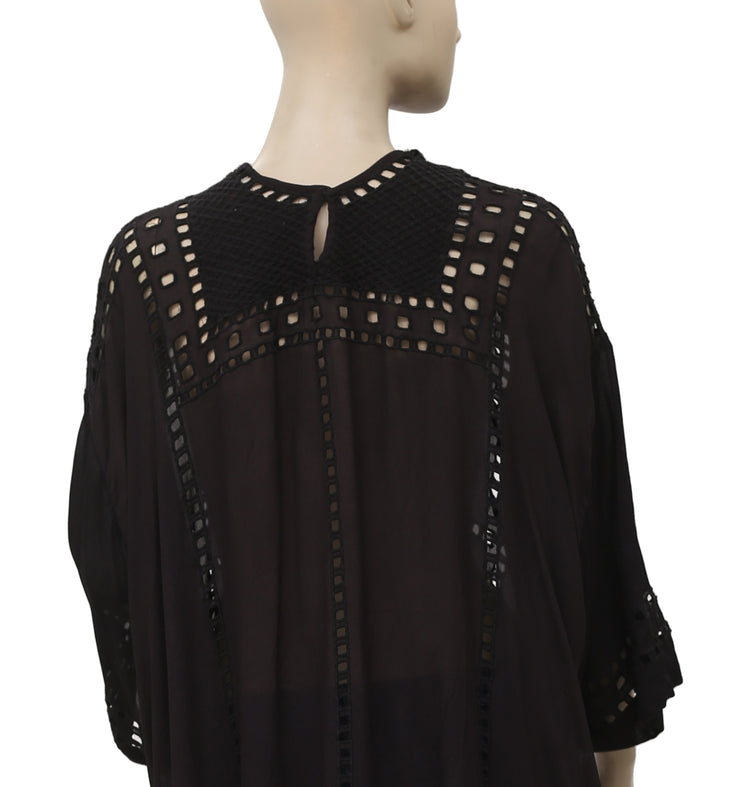 Isabel Marant Étoile Eyelet Black Tunic Top M