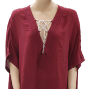 Out From Under Lola Beach Kimono Caftan Cover Up Top L