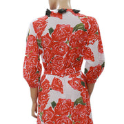 Rhode Resort Lena Bouquet Robe Wrap Midi Dress XS