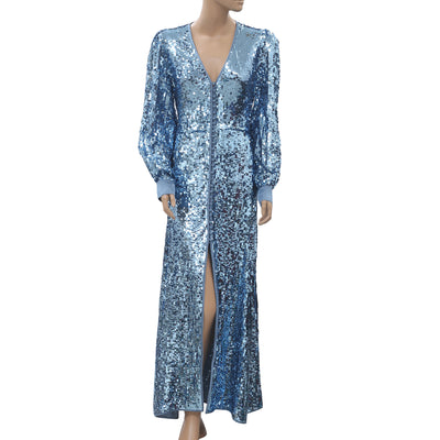 Uterque Zara Sequinned Long Maxi Dress M