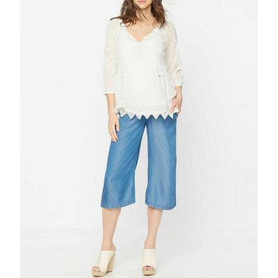 A Pea The Pod Maternity Luxe Eyelet Embroidered Tunic Top