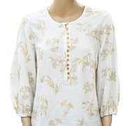 Floreat Anthropologie Atley Peasant Blouse Top LP