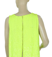 Marissa Webb Sequin Embellished Open Back Sleeveless Blouse Top S 6