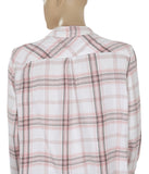 Calvin Klein Plaids & Checks Printed Shirt Top L