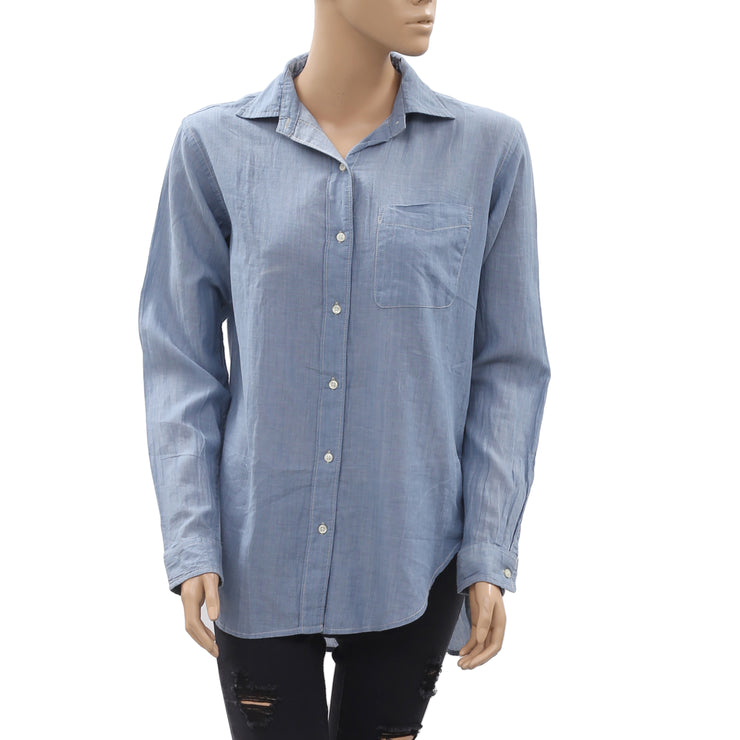 Denim & Supply Ralph Lauren Buttondown Shirt Top L