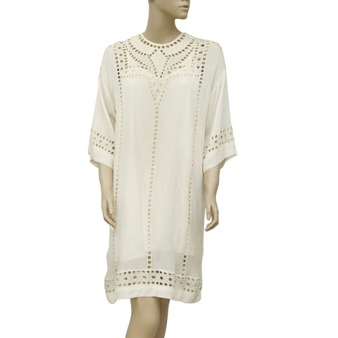 Etoile Isabel Marant Enery Ivory Cutout Embroidered Dress M
