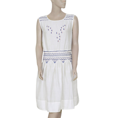Juicy Couture Remix Embroidered White Dress S