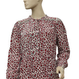Hoss Intropia Printed Embellished Silk Tunic Dress M