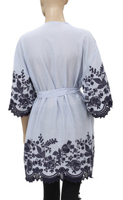 Eloise Anastasia Embroidered Robe Coverup M L