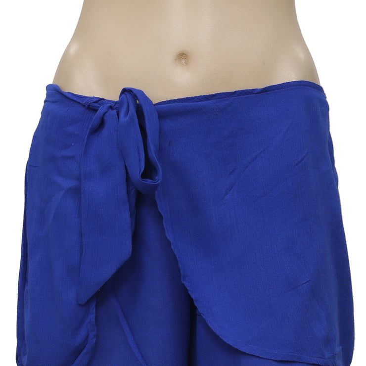 Free People Solid Sarong Tie Knot Shorts Small S