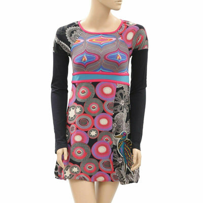 Desigual Girls Kids Retro Printed Mini Dress 13-14 Years