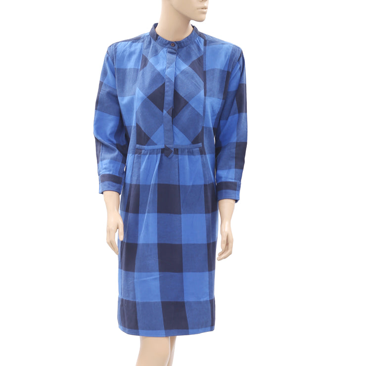 Nué Notes Plaids & Checks Printed Dress M 40