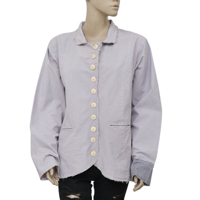 Ewa I Walla Lagenlook Buttondown Shirt Top XL