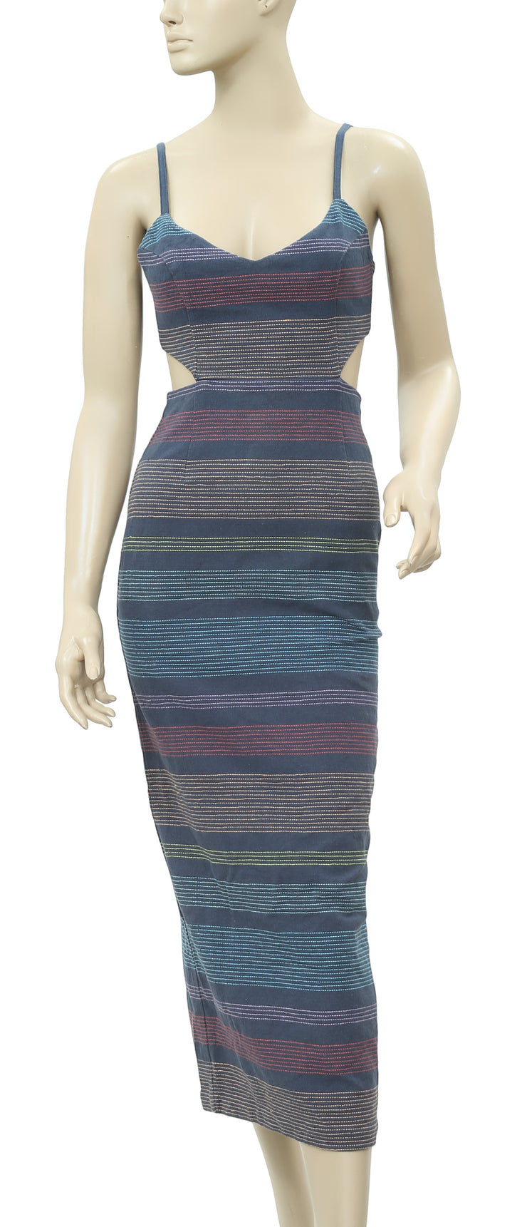 Mara Hoffman Striped Embroidered Dress XS 0