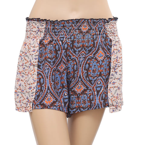 Free People Endless Summer Crop shorts Printed Smocked Small S