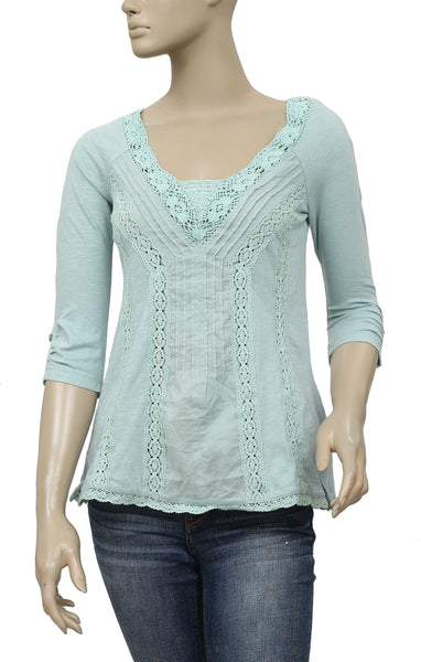 ddfbee51b911cd Meadow Rue Lace Medley Pintuck Top XS – White Chocolate Couture