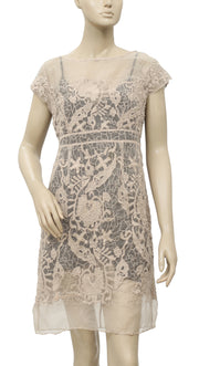 Yoana Baraschi Anthropologie Embroidered Dress S