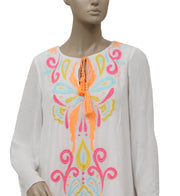 Lilly Pulitzer Embroidered Ivory Tunic Dress S