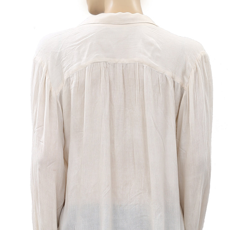 Free People FP ONE Oversized Blouse Top S