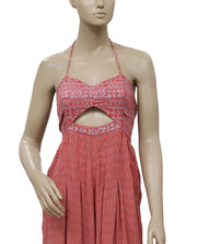 Free People Crystal Bay Romper Printed Cutout Jumpsuit Dress S