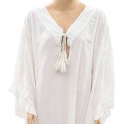 Mavi Embroidered Lace White Tunic Dress XS