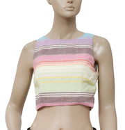 Mara Hoffman Striped Rainbow Stripe Top XS 2