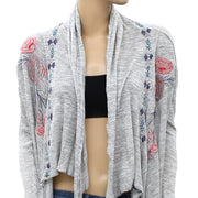 Caite Anthropologie Floral Embroidered Cardigan Top XS
