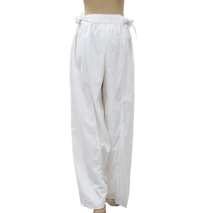 Free People Wide Leg Ivory Trouser Pants M