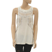 Free People Get To The Point Pointelle Tunic Top