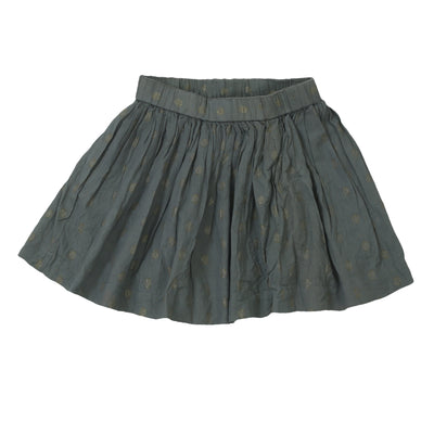 Bonpoint Kids Girls Shimmer Mini Skirt Holiday Flared Gray Boho 6 Year