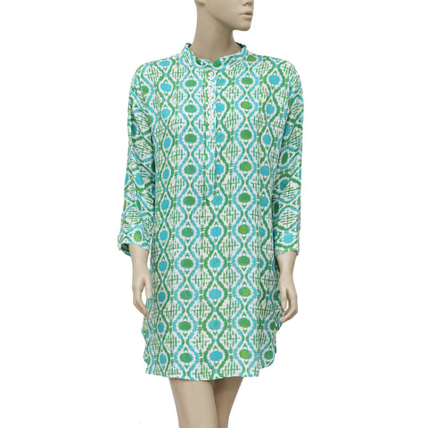 Lilly Pulitzer Printed Round Neck Casual Tunic Dress Medium M