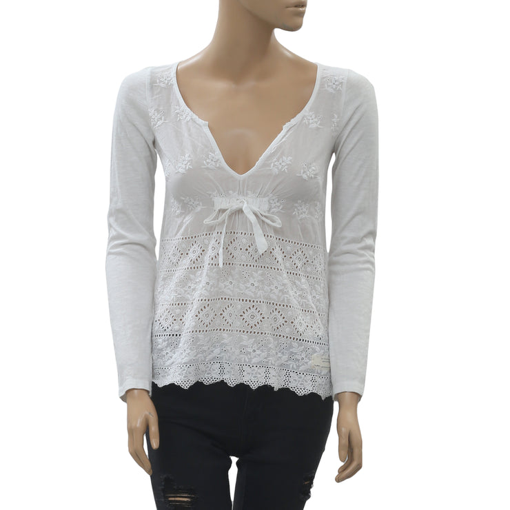 Odd Molly Anthropologie Eyelet Embroidered Blouse Top XS