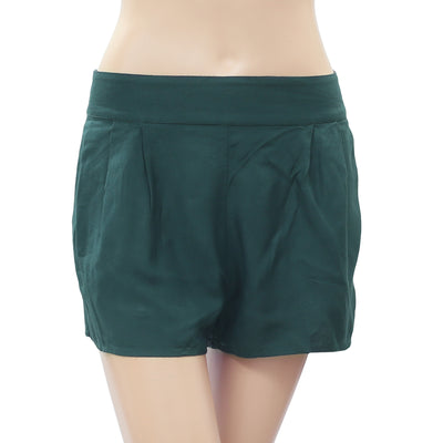 Kimchi Blue Urban Outfitters Smocked Shorts Pleated Pocket Green S