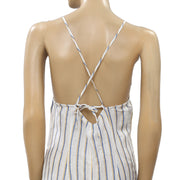 Free People Westminster Striped Jumpsuit Dress XS-0