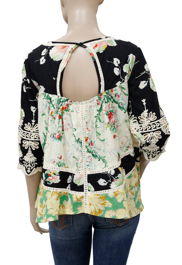 Vanessa Virginia Prateria Printed Lace Top S P